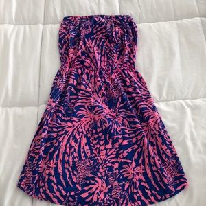 Lily Pulitzer 100% Cotton Windsor Strapless Dress